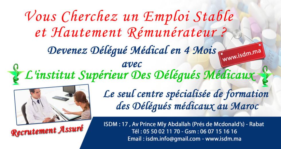 Devenez Délégué Médical en 4 Mois Avec L'institut Supérieur Des délégués médicaux