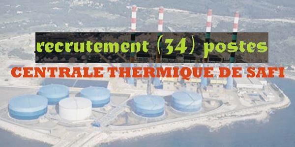 Recrutement (34) postes à la Centrale Thermique de Safi