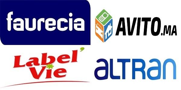 Faurecia ، Avito ، Label vie ، Altran ، توظيف في العديد من المناصب