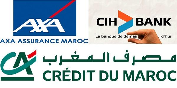 Recrutement (4) postes chez AXA Assurance , CIH Bank et Crédit du Maroc