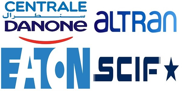 Recrutement (6) postes chez  Danone ، SCIF ، Eaton ، Altran ، توظيف (6) منصب