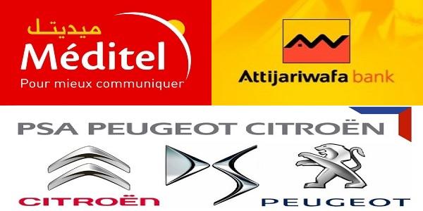 Recrutement (3) postes chez Méditel , PSA Peugeot , Attijariwafa bank – توظيف (3) منصب
