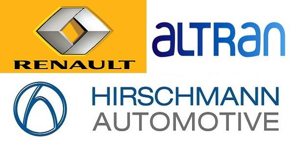 Recrutement (4) postes chez Renault , Altran et Hirschmann Automotive – توظيف (4) منصب