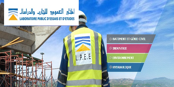 Recrutement (16) Ingénieurs, Cadres & Techniciens chez LPEE – مباراة توظيف 16 منصبا بإالمختبر العمومي للتجارب والدراسات