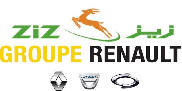 Recrutement plusieurs postes chez Renault et Groupe ZIZ – توظيف في العديد من المناصب