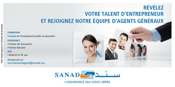 Recrutement d'agents généraux chez Sanad Assurance – توظيف عدة مهندسين