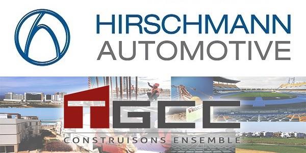 recrutement  3  postes chez tgcc et hirschmann kenitra