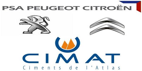 Recrutement (3) postes chez PSA Peugeot Citroën et Ciment de l'Atlas – توظيف (3) منصب