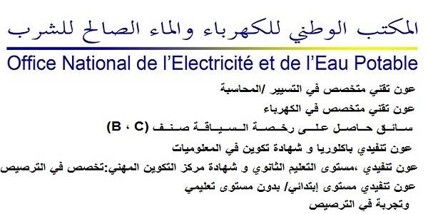Recrutement (25) postes à la Régie Autonome de Distribution d'Eau et d'Electricité de Chaouia – توظيف (25) منصب