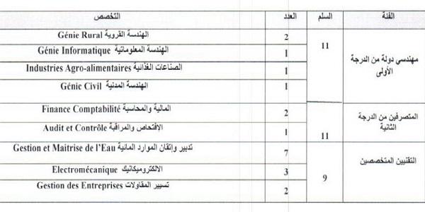 Recrutement de (5) Ingénieurs et (15) techniciens à l'Office régional de mise en valeur agricole du Loukkos – توظيف (20) منصب