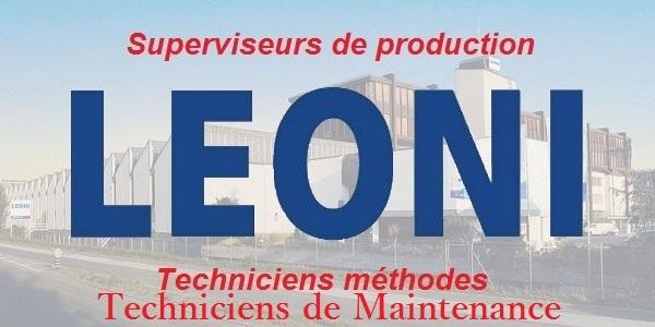 Recrutement des techniciens méthodes chez Leoni – توظيف في العديد من المناصب