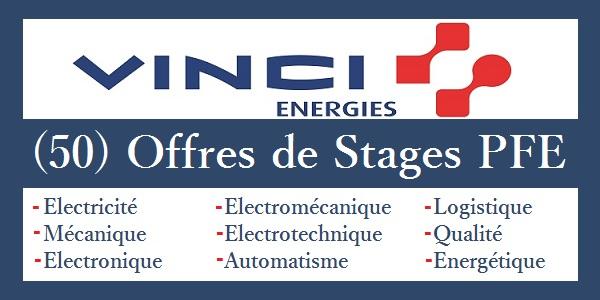 Offres de Stages PFE chez VINCI Energies