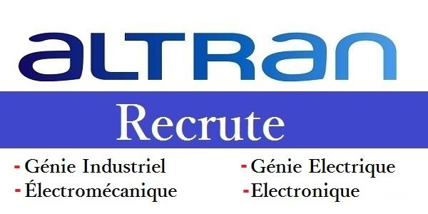 شركة Altran Casablanca تعلن عن حملة توظيف عدة مهندسين و تقنيين في عدة تخصصات