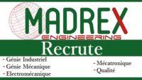 شركة Madrex Engineering تعلن عن حملة توظيف عدة مهندسين و تقنيين في عدة تخصصات
