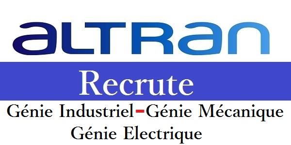 Recrutement (7) profils chez Altran (Electricité – Mécanique – Industriel – Electronique) – توظيف عدة مهندسين و تقنيين في