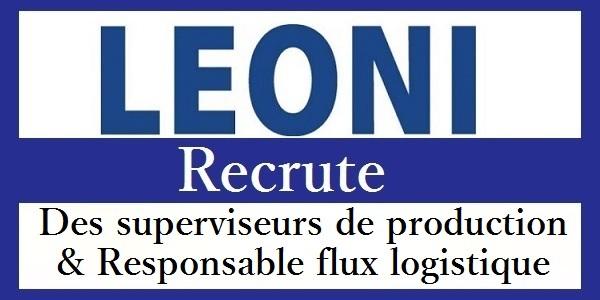 Recrutement des Superviseurs de production & Responsable Qualité chez Leoni – تعلن عن حملة توظيف في عدة تخصصات