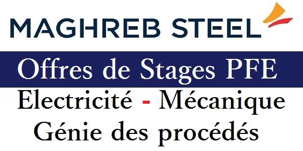 offres de stages pfe chez maghreb steel  g u00e9nie  u00e9lectrique
