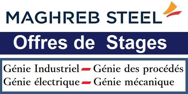 Offres de Stages en Génie électrique, Génie Industriel, Génie des procédés & Mécanique chez Maghreb Steel