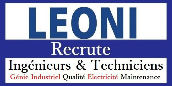 شركة Leoni Berrechid & Bouskoura تعلن عن حملة توظيف عدة مهندسين و تقنيين في: مراقبة الجودة والسلامة، الميكانيك، الكهرباء، الصيانة،…