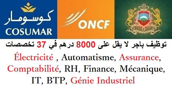 توظيف باجر لا يقل على 8000 درهم في 37 تخصصات : Électricité , Automatisme, Assurance, Comptabilité, RH, Finance, Mécanique, IT, BTP, Génie Industriel