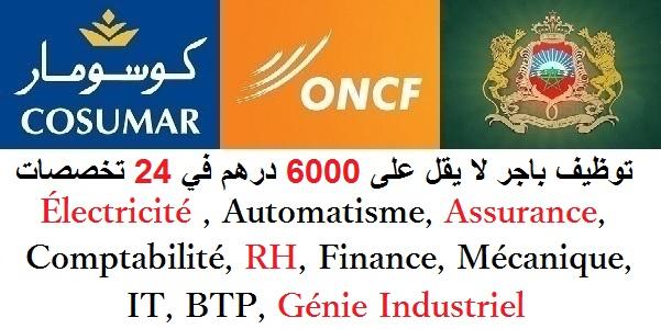 توظيف باجر لا يقل على 6000 درهم في 24 تخصصات : Électricité , Automatisme, Assurance, Comptabilité, RH, Finance, Mécanique, IT, BTP, Génie Industriel