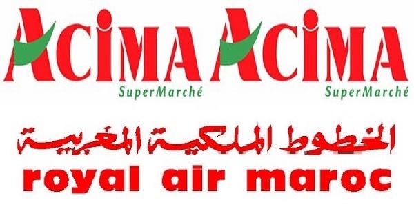 Recrutement chez La Royal Air Maroc & Acima (Chargé de Contrôle Qualité – RH) – توظيف (2) منصب