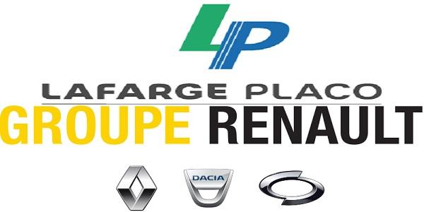 Recrutement chez Renault & Lafarge Placo (Chargé de relation client – Responsable planification – Commercial – Responsable production) – توظيف (4) منصب
