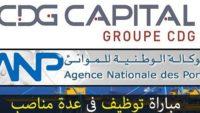 Recrutement chez L'Agence Nationale des Ports & La Caisse de Dépôt et de Gestion – توظيف (3) منصب