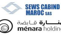 Recrutement chez Menara Holding & SEWS Maroc (Contrôleur Interne – Projeteur CFA/ CFO – Agent Archivage – Chargé de pointage) – توظيف (4) منصب