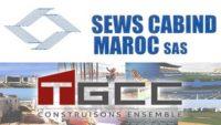 Recrutement chez TGCC & SEWS MAROC (Ingénieur grands achats – Responsable RH – Projeteur CFA/ CFO) – توظيف (3) منصب
