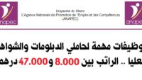 عاجل : توظيفات مهمة لحاملي الدبلومات والشواهد العليا .. الراتب بين 8.000 و47.000 درهم