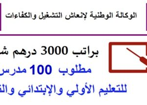 مطلوب 100 أستاذ(ة) للتعليم الخصوصي حاصلين على الباك أو الدبلوم أو الإجازة براتب 3000 درهم شهريا