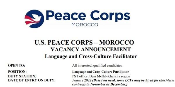 Le Corps de la paix recrute des Animateurs/trices